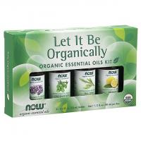 Kit de Óleos Essenciais  Let It Be Organically Organic 40ml NOW Foods