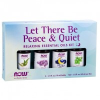 Kit de Óleos Essencias Let There Be Peace & Quiet Oil Kit 40 ml NOW Foods