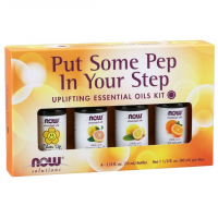 Kit de Óleos Essencias Put Some Pep in Your Step 40 ml NOW Foods