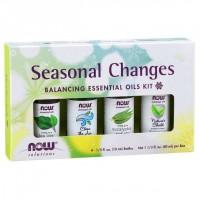Kit de Óleos Essenciais Seasonal Changes Balancing 40ml NOW Foods