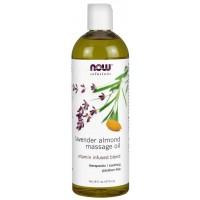 Óleo para Massagem de Amêndoa e Lavanda 473ml NOW Foods
