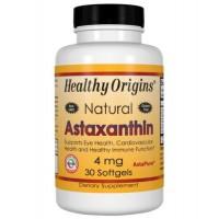 Astaxanthin 4mg 30softgels HEALTHY Origins