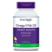 Omega 3 Fish Oil 1000mg 90s Sabor: Limão NATROL