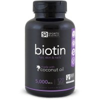 Biotin 5,000mcg 120  Veggies Softgel SPORTS Research