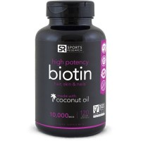 Biotin 10,000mcg 120 Veggies Softgel SPORTS Research