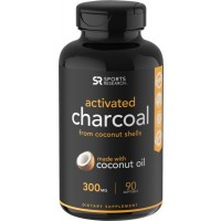 Coconut Activated Charcoal 300mg 90 Caps SPORTS Research