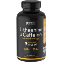 L Theanine e Caffeine 60 softgels SPORTS Research