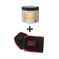 Sweet Sweat com Extra Virgin Organic Coconut Oil 'XL' (382g) + Cinta PINK