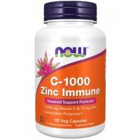 C 1000 Zinc Immune 90 Veg Capsules NOW