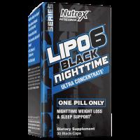 LIPO-6 BLACK NIGHTTIME 30 BLACK-CAPS NUTREX