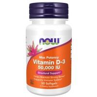 Vitamin D3 50.000 IU 50 Softgels NOW