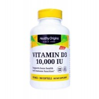 Vitamin D3 10.000 IU 360 softgels HEALTHY Origins