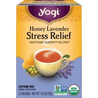 Chá Honey Lavender Stress Relief Tea - Yogi