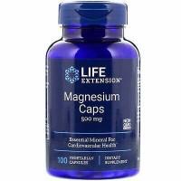 Magnésio Caps 500mg 100 veg caps LIFE Extension